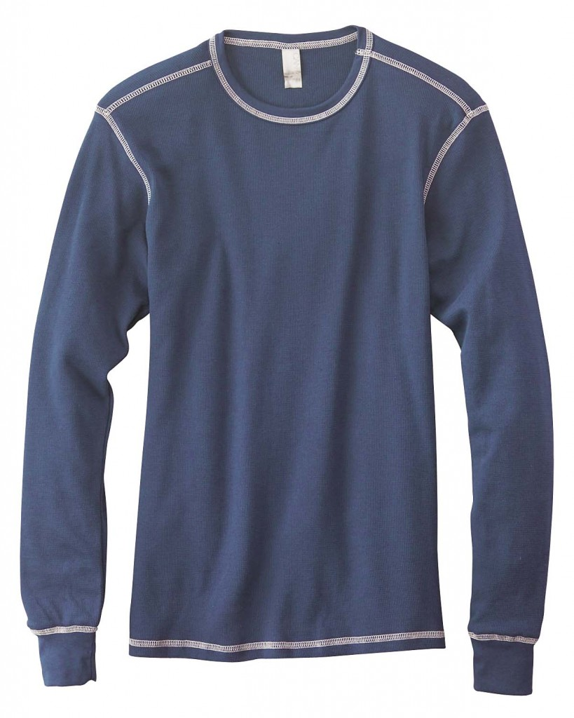 Canvas Contrasting Stitch Long Sleeve Thermal