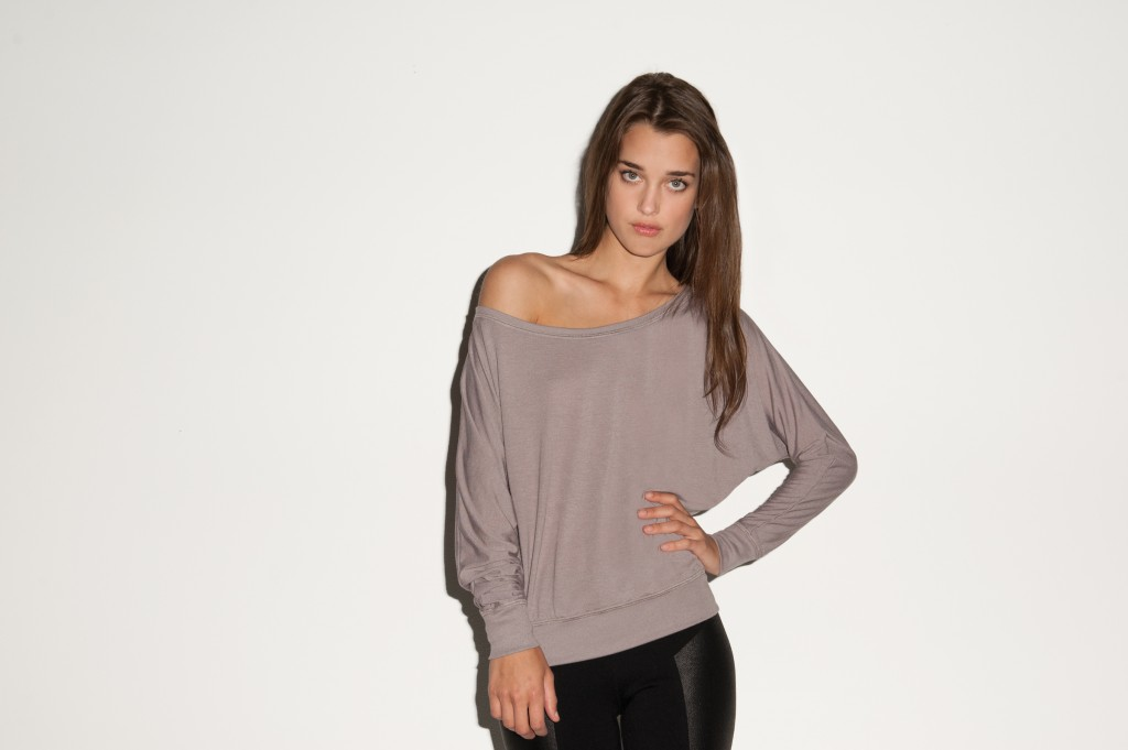 Bella Drop Neck Long Sleeve Tee