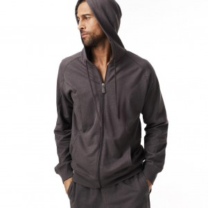 alo men's hooded zip sweatshirt