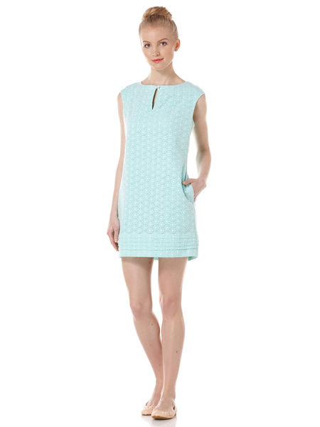 Original Penguin Eyelet Shift Dress