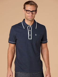 Penguin Classic Men's Striped Placket Polo