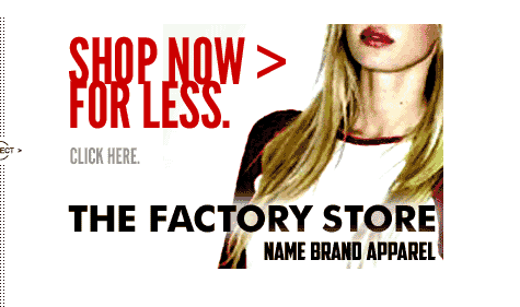 Shop The Factory Store at Name Brand Apparel
