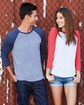 Next Level Unisex Triblend Raglan 3/4-Sleeve T-Shirt